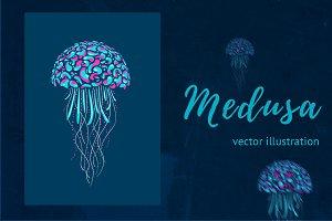 Neon Medusa