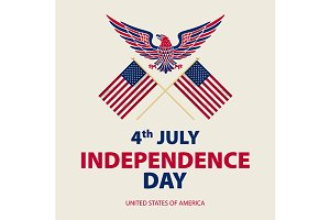Independence day USA 4th July vector
