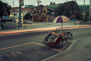 The cycle rickshaw