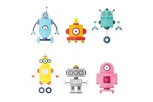 Set Cute Robots.