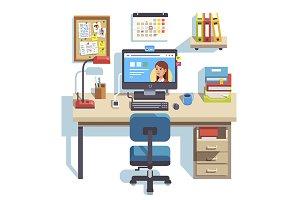 Student work desk