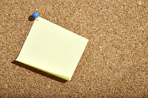 Blank yellow paper note