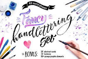 Fancy Vector Handlettering Set