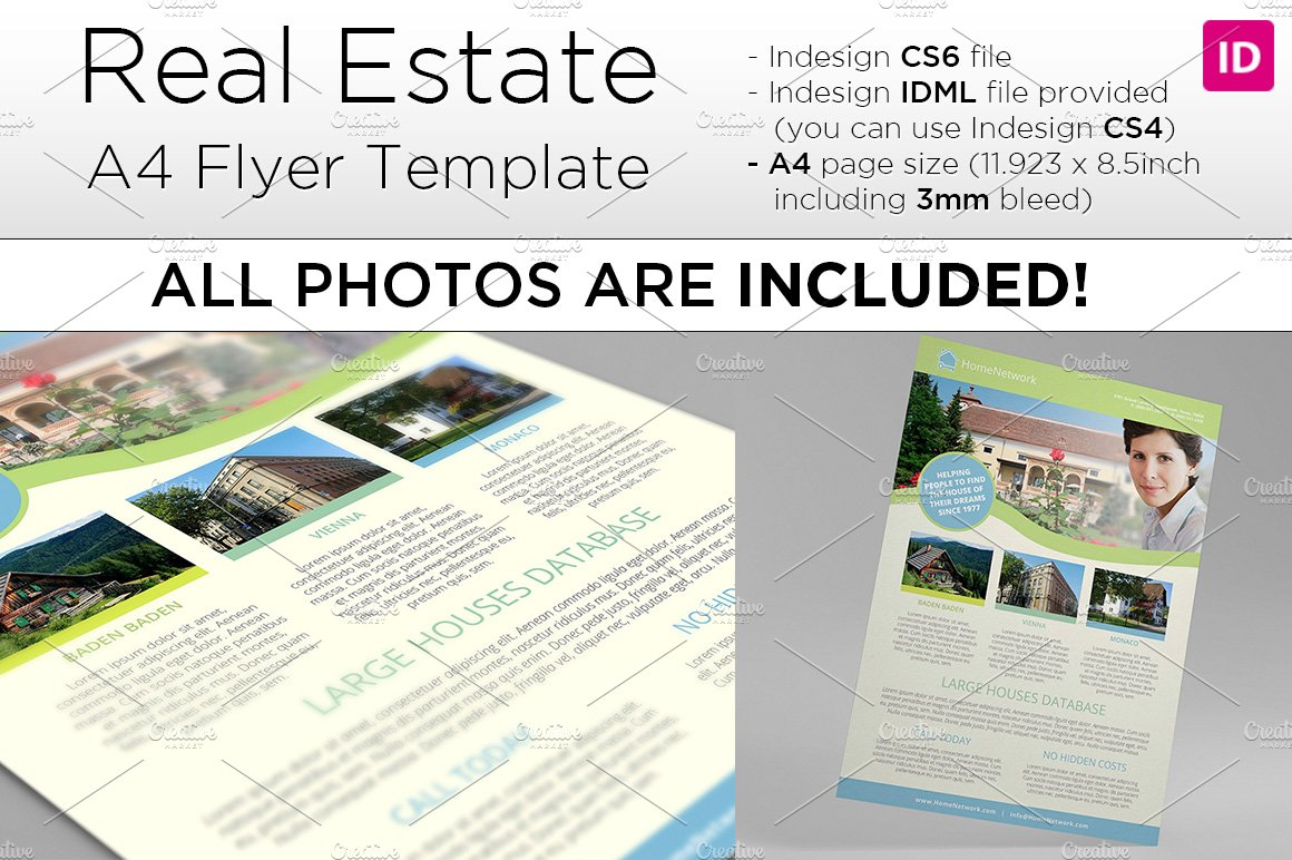 a4 real estate flyer template flyer templates on creative market