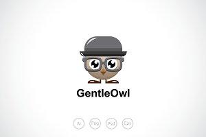 Gentleman Owl Logo Template