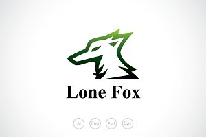 Lone Fox Logo Template