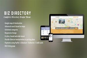 BIZ DIRECTORY - Drupal Theme