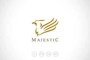 Majestic Bird Logo Template
