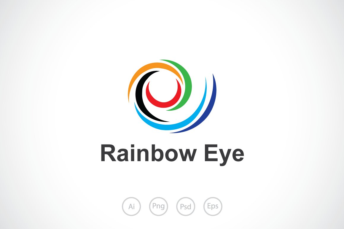 rainbow eye logo template ~ logo templates ~ creative market