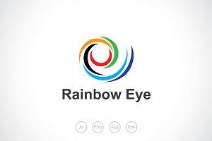 Rainbow Eye Logo Template