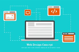 Web Design Concept Vector 1