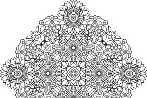 Outlined circular geometric pattern