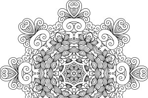 Intricate symmetrical pattern