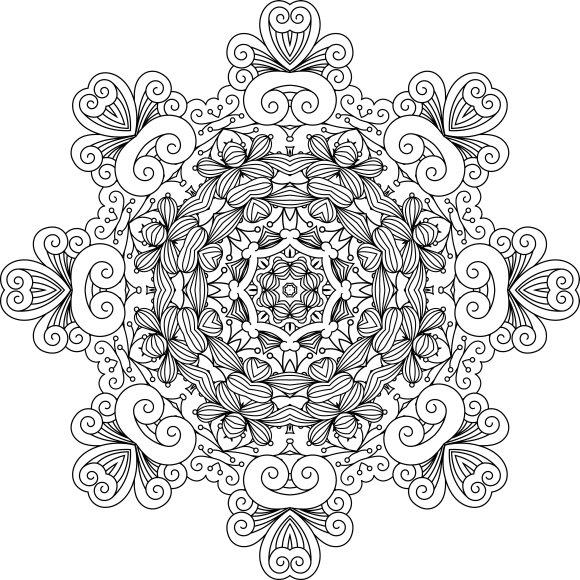 Intricate symmetrical pattern