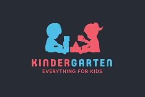 KinderGarten Logo Design + Fonts