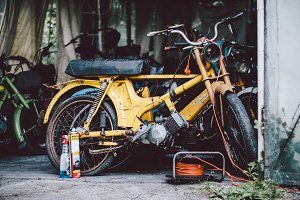 Old motorbikes and mopeds #1