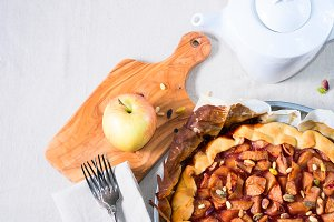 Home made apple galette