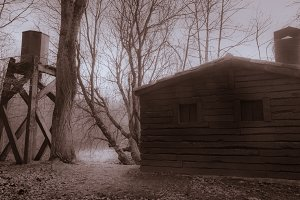A abandoned cabin
