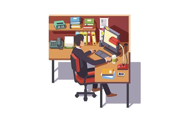 Corporate worker clerk