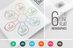 Line flat elements for infographic_6