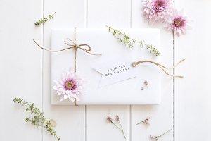 Gift tag mockup - styled stock image