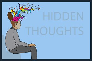 Hidden thoughts. Vector