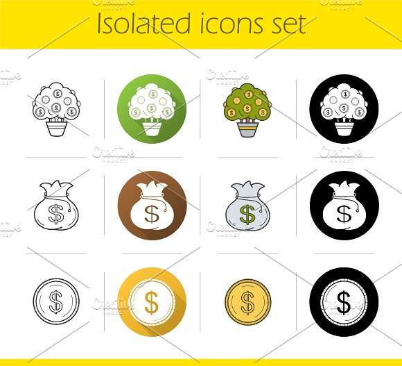 Bank and finance. 12 icons. Vector - Icons