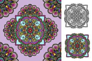 Seamless pattern. Boho style.
