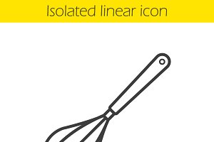Whisk linear icon. Vector