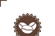 Natural coffee stamp icon. Vector
