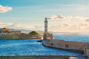 habour of Chania, Crete, Greece