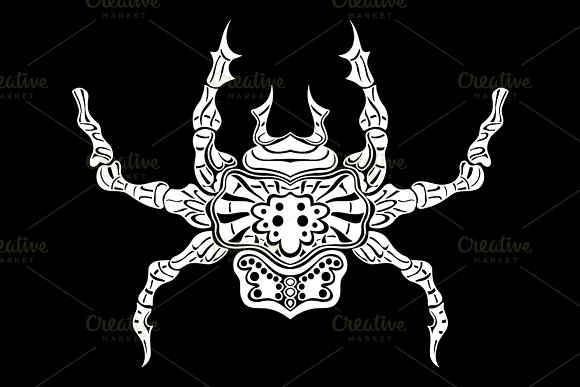 stylized spider. Animals. - Graphics