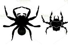 black silhouette spider icon