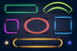Neon light frames
