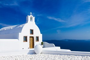 beautiful details of Santorini island, Greece