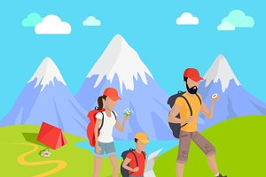 Mountain Tourism Concept