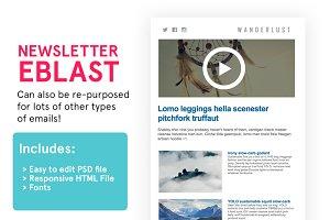Newsletter Eblast (HTML+PSD)