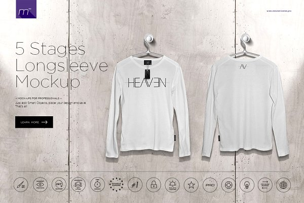 Longsleeve On 5 Stages Mock-up