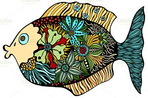Hand Drawn Fish.
