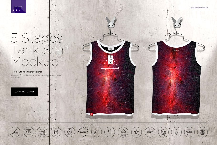 002161109 Tank Shirt On 5 Stages Mock-up ~ Product Mockups ~ Creative Market