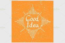 Good Idea text