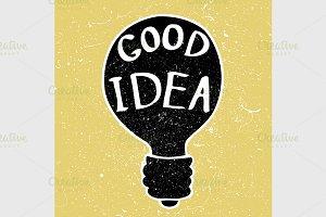 idea bulb and grunge textures