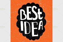 Best Idea text