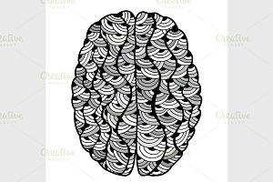 Sketchy Human Brain