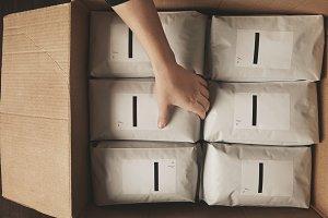Retail packaging coffee tea business