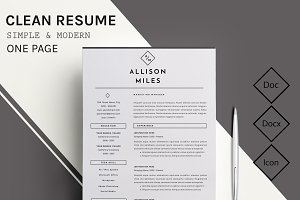 Clear & ProResume / CV Template - 12