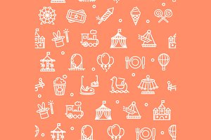 Amusement Park Background Pattern