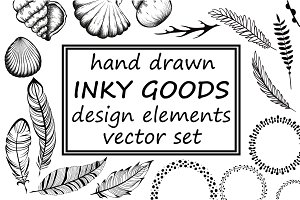 Hand drawn inky goods