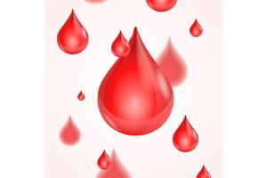 Blood Donation Background. Vector