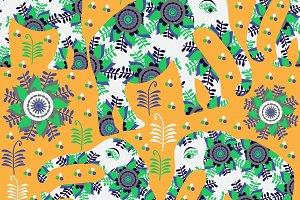 4 Oriental seamless pattern